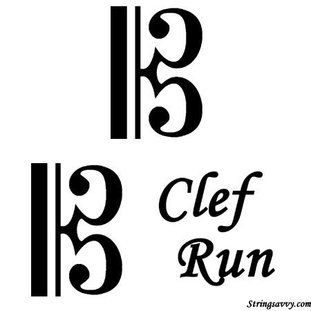 C Clef Run Funny Music Pun Image Joke